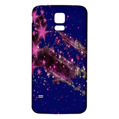 Stars Abstract Shine Spots Lines Samsung Galaxy S5 Back Case (White) by Simbadda