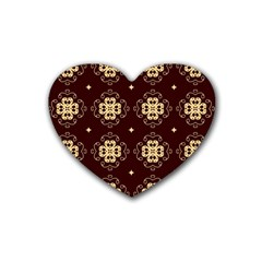 Seamless Ornament Symmetry Lines Heart Coaster (4 Pack)  by Simbadda