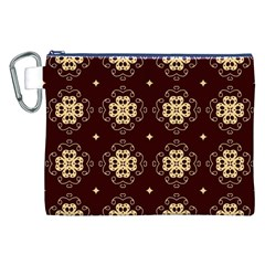Seamless Ornament Symmetry Lines Canvas Cosmetic Bag (xxl) by Simbadda