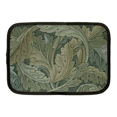 Vintage Background Green Leaves Netbook Case (medium)  by Simbadda