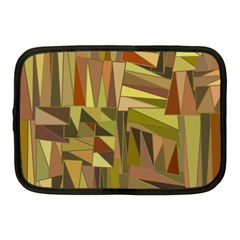 Earth Tones Geometric Shapes Unique Netbook Case (medium)  by Simbadda