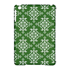 St Patrick S Day Damask Vintage Green Background Pattern Apple Ipad Mini Hardshell Case (compatible With Smart Cover) by Simbadda