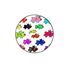 Fishes Marine Life Swimming Water Hat Clip Ball Marker (10 pack) by Simbadda