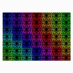 Rainbow Grid Form Abstract Large Glasses Cloth (2 Side) by Simbadda