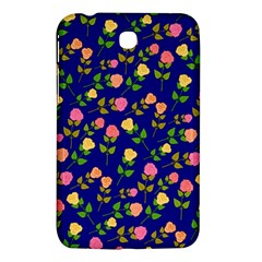 Flowers Roses Floral Flowery Blue Background Samsung Galaxy Tab 3 (7 ) P3200 Hardshell Case  by Simbadda