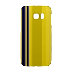 Yellow Blue Background Stripes Galaxy S6 Edge by Simbadda