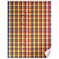 Yellow Blue Red Lines Color Pattern Canvas 12  X 16   by Simbadda