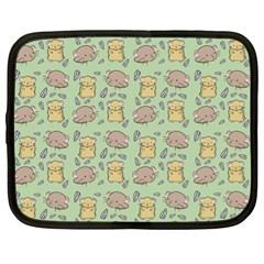 Cute Hamster Pattern Netbook Case (xl)  by Simbadda