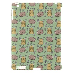 Cute Hamster Pattern Apple Ipad 3/4 Hardshell Case (compatible With Smart Cover) by Simbadda