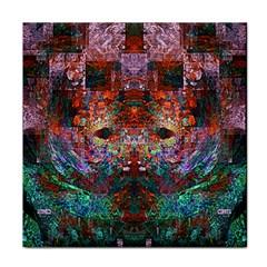 Modern Abstract Geometric Art Rainbow Colors Face Towel