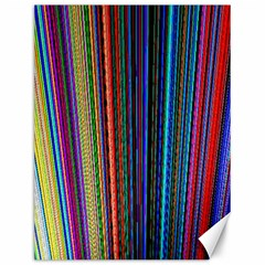 Multi Colored Lines Canvas 12  X 16   by Simbadda