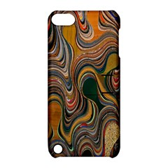 Swirl Colour Design Color Texture Apple Ipod Touch 5 Hardshell Case With Stand by Simbadda
