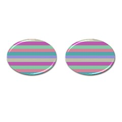 Backgrounds Pattern Lines Wall Cufflinks (Oval) by Simbadda