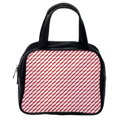 Pattern Red White Background Classic Handbags (one Side) by Simbadda