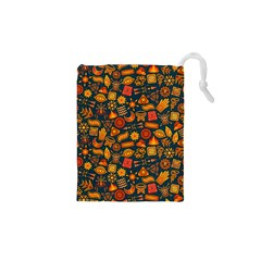 Pattern Background Ethnic Tribal Drawstring Pouches (XS)  by Simbadda
