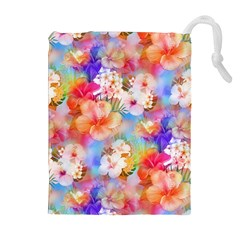 Tropical Hawaiian Garden  Drawstring Pouches (extra Large) by KirstenStar