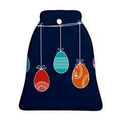 Easter Egg Balloon Pink Blue Red Orange Ornament (Bell) by Alisyart