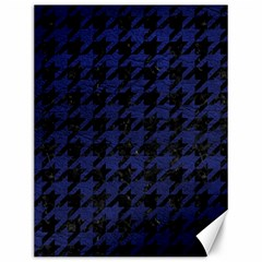Houndstooth1 Black Marble & Blue Leather Canvas 12  X 16  by trendistuff