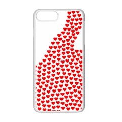 Heart Love Valentines Day Red Sign Apple Iphone 7 Plus White Seamless Case by Alisyart
