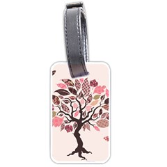 Tree Butterfly Insect Leaf Pink Luggage Tags (two Sides) by Alisyart