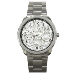 Pattern Motif Decor Sport Metal Watch