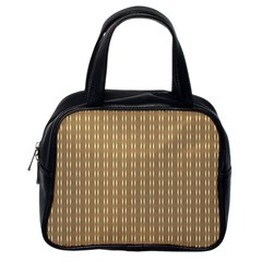 Pattern Background Brown Lines Classic Handbags (one Side) by Simbadda
