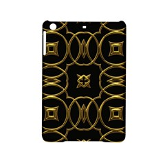 Black And Gold Pattern Elegant Geometric Design Ipad Mini 2 Hardshell Cases by yoursparklingshop