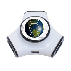 Hexagon Diamond Earth Globe 3 Port Usb Hub by Onesevenart
