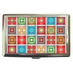 Tiles Pattern Background Colorful Cigarette Money Cases by Onesevenart