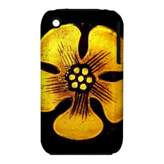 Yellow Flower Stained Glass Colorful Glass iPhone 3S/3GS by Onesevenart