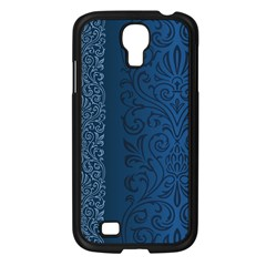 Fabric Blue Batik Samsung Galaxy S4 I9500/ I9505 Case (black) by Alisyart