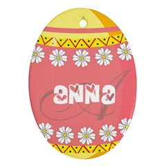 Easter Egg Hunter Oval Ornament by makeunique