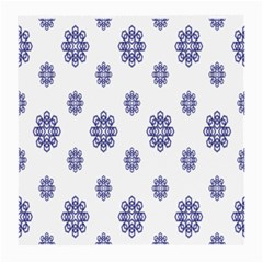 Snow Blue White Cool Medium Glasses Cloth by Alisyart