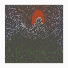 Sun Line Lighs Nets Green Orange Geometric Mountains Medium Glasses Cloth (2 Side) by Alisyart