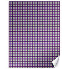 Mardi Gras Purple Plaid Canvas 18  X 24   by PhotoNOLA