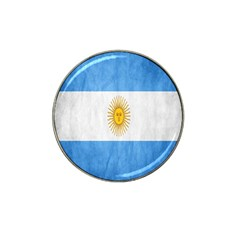 Argentina Texture Background Hat Clip Ball Marker by Simbadda