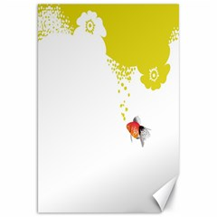 Fish Underwater Yellow White Canvas 20  x 30   by Simbadda