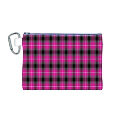 Cell Background Pink Surface Canvas Cosmetic Bag (M) by Simbadda