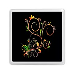 Flowers Neon Color Memory Card Reader (square)  by Simbadda