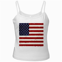 Flag United States United States Of America Stripes Red White Ladies Camisoles by Simbadda