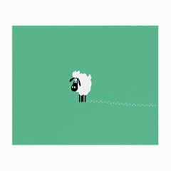 Sheep Trails Curly Minimalism Small Glasses Cloth (2 Side) by Simbadda