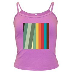 Texture Stripes Lines Color Bright Dark Spaghetti Tank by Simbadda
