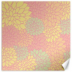 Floral Pattern Canvas 16  X 16   by Valentinaart
