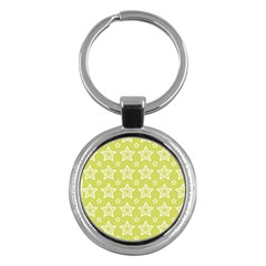 Star Yellow White Line Space Key Chains (round)  by Alisyart