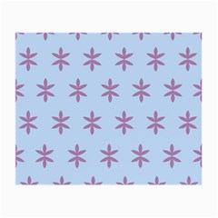 Flower Floral Different Colours Blue Purple Small Glasses Cloth (2 Side) by Alisyart