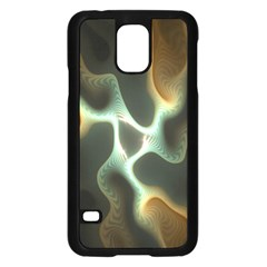 Colorful Fractal Background Samsung Galaxy S5 Case (Black) by Simbadda