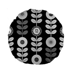 Floral Pattern Seamless Background Standard 15  Premium Flano Round Cushions by Simbadda