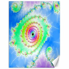 Decorative Fractal Spiral Canvas 18  X 24   by Simbadda