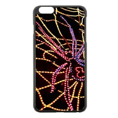Black Widow Spider, Yellow Web Apple Iphone 6 Plus/6s Plus Black Enamel Case by Simbadda