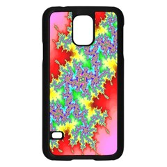 Colored Fractal Background Samsung Galaxy S5 Case (Black) by Simbadda